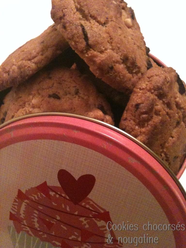 cookies chocorsés & nougatine