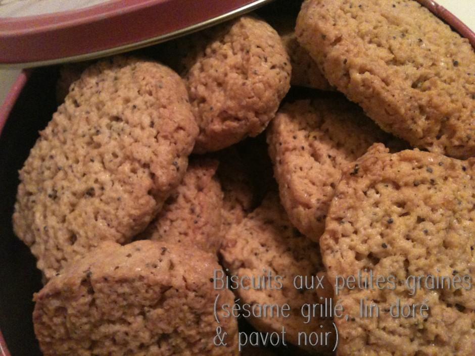 biscuits aux petites graines