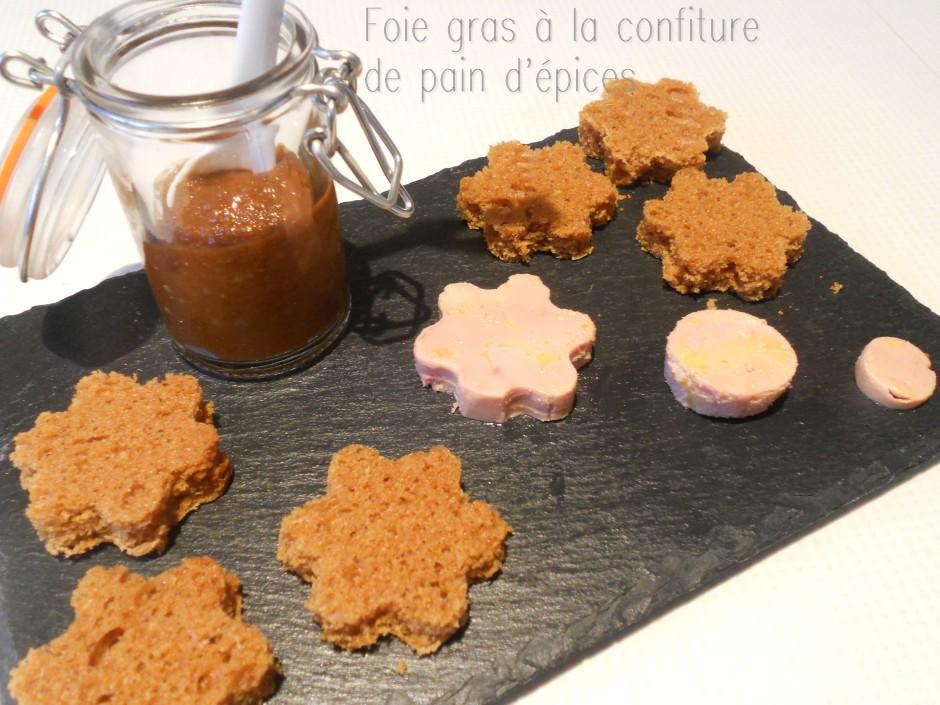 foie gras à la confiture de pain d'épices
