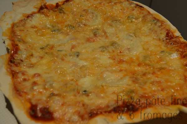 Pizza pâte fine & 6 fromages