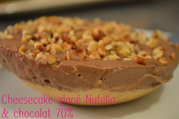 Cheesecake glacé Nutella & chocolat 70% 3