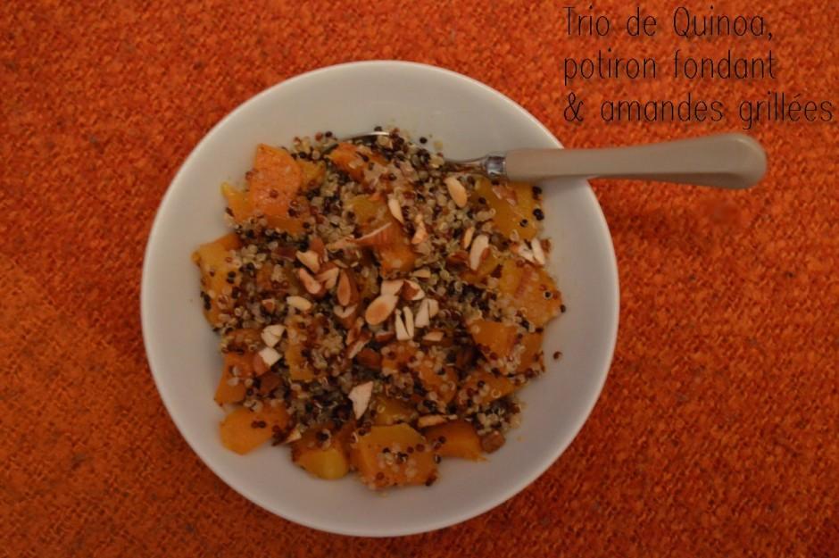 Trio de quinoa, potiron fondant & amandes grillées