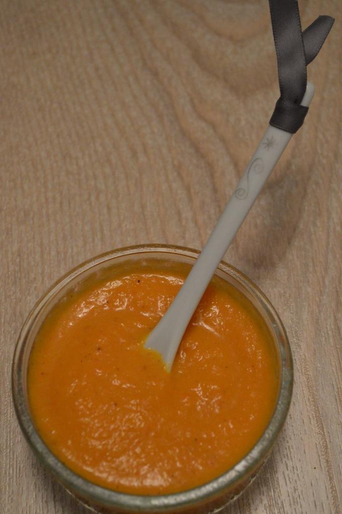 Velouté épais de carottes au masalé