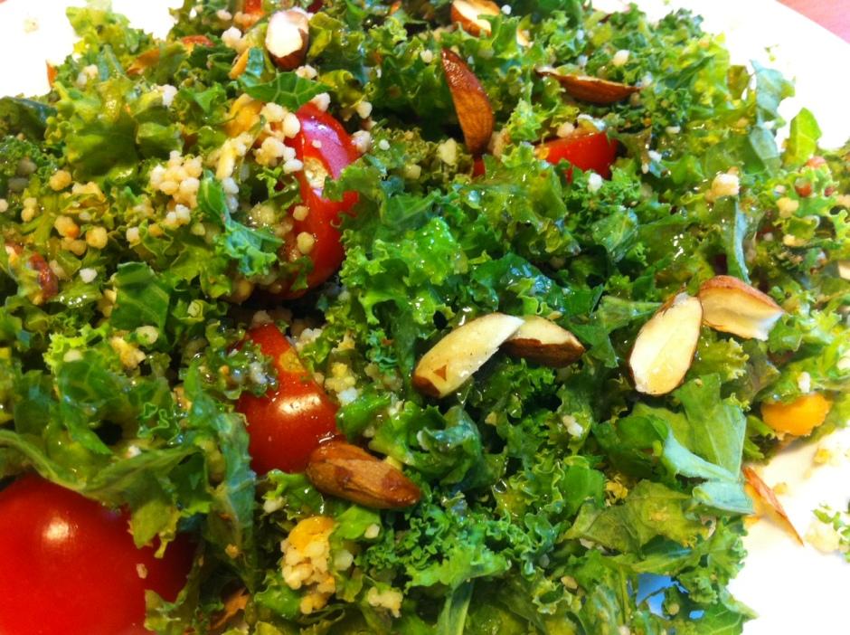 salade de kalé et délice de céréales